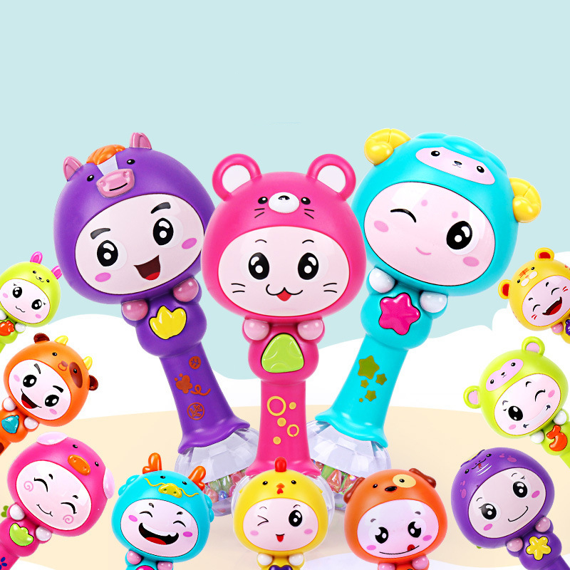 Brinquedos Para Bebe Baby Musical Toys For Baby 0-12 Months Cartoon Animals Light Baby R ...