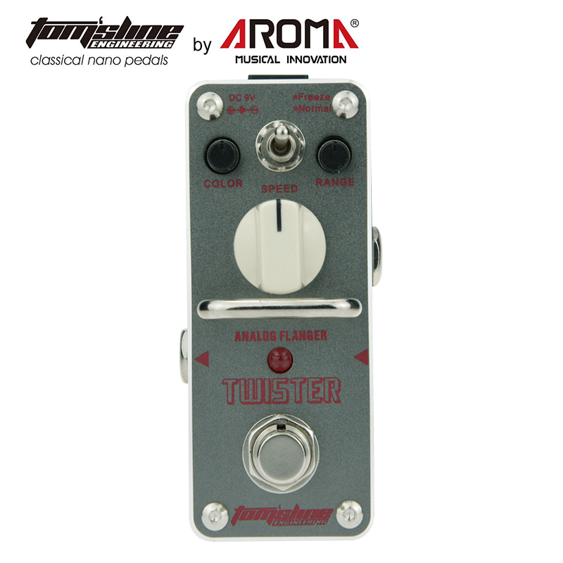 Aroma New Arrival Analogue Mini Effect Pedals ATR-3 Twister Electric Guitar Pedal aroma adr 3 dumbler amp simulator guitar effect pedal mini single pedals with true bypass aluminium alloy guitar accessories