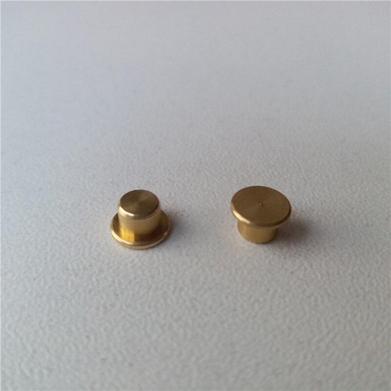 18pcs Copper Knob Potentiometer Knob 6*3.7mm Potentiometer Cap Copper Button Solid Button