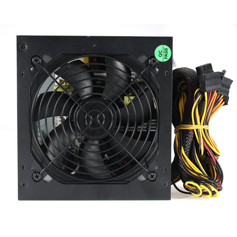 High Quality 550Watt Power Supply Passive Computer Power 120mm Fan ATX SATA PCI-E Power Supply for Intel AMD PC Unit atx 80plus efficiency 500w power gold power 12v sata port connectors 12cm fan high quality computer power supply for btc