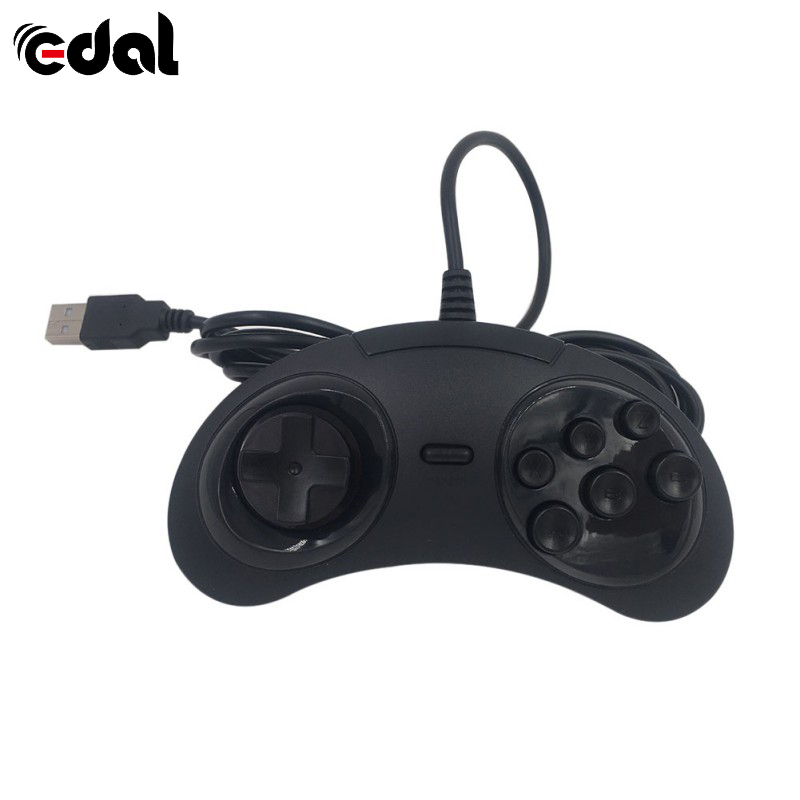 EDAL 6 Buttons Classic Wired SEGA USB Gamepad USB Game Controller Joypad for SEGA Genesis/MD2 Y1301/ PC /MAC Mega Drive