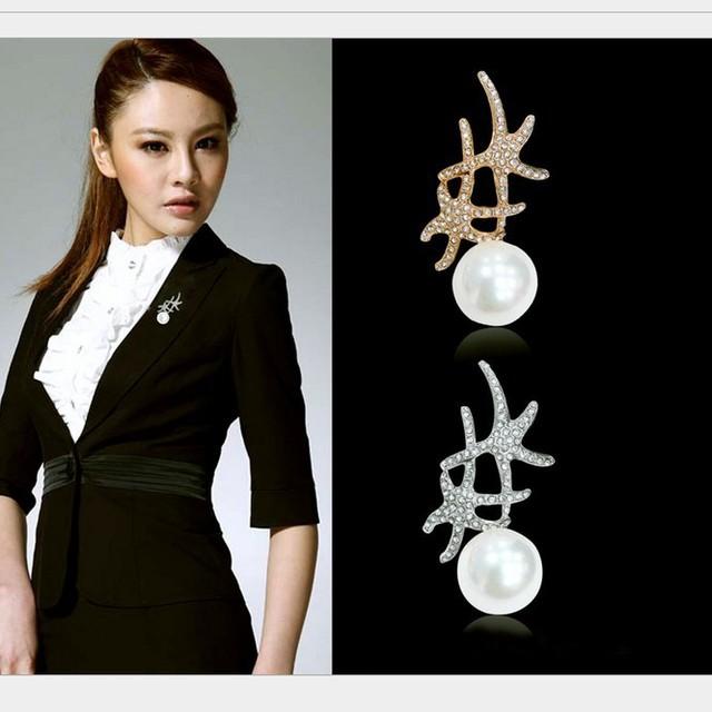 Fashion Crystals Starfish simulated pearl