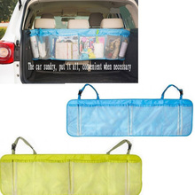 Foldable Auto Organizer Boot Trash Hanging Storage Bags for Car Seat Capacity Storage Pouch Multifunctional