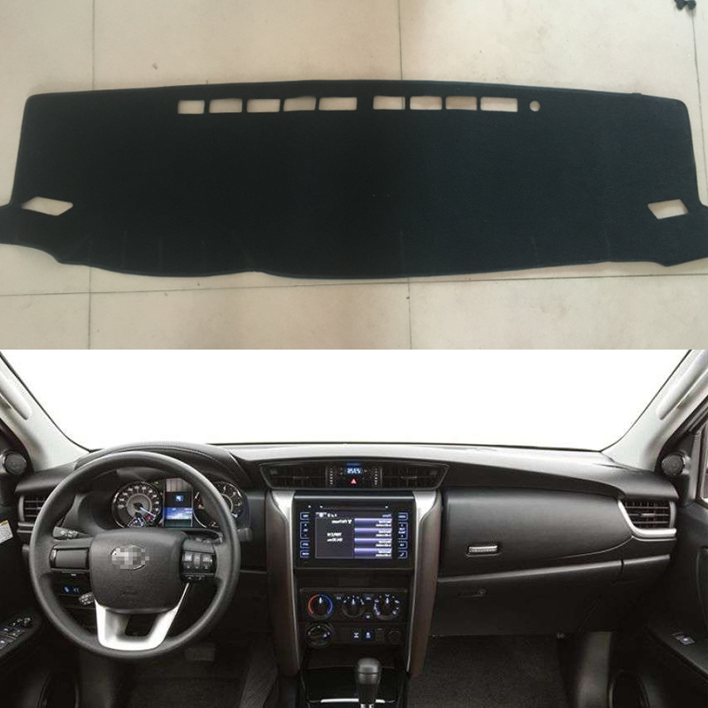 Custom Car Sun Shade Dashmats Car styling Accessories Dashboard Cover Mats Carpet for toyota fortuner sw4 2016 2017 2018 LHD-in Car Anti-dirty Pad from Automobiles & Motorcycles on AliExpress - 11.11_Double 11_Singles' Day 1