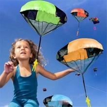 Hand Throwing parachutes Kite kids mini play parachute soldier toy Children outdoor sports game Educational Toys Kites  недорого