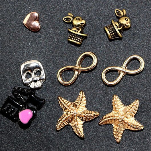 Claire fashion accessories stud earring pack set 12pairs Earring Swing Key Skull Bird OK YES Owl starfish for women brincos