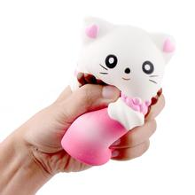 Decompression Toy Squishy Slow Rebound Pink Simulation Cat Claw Coffee Cup Stress Reliever Toys