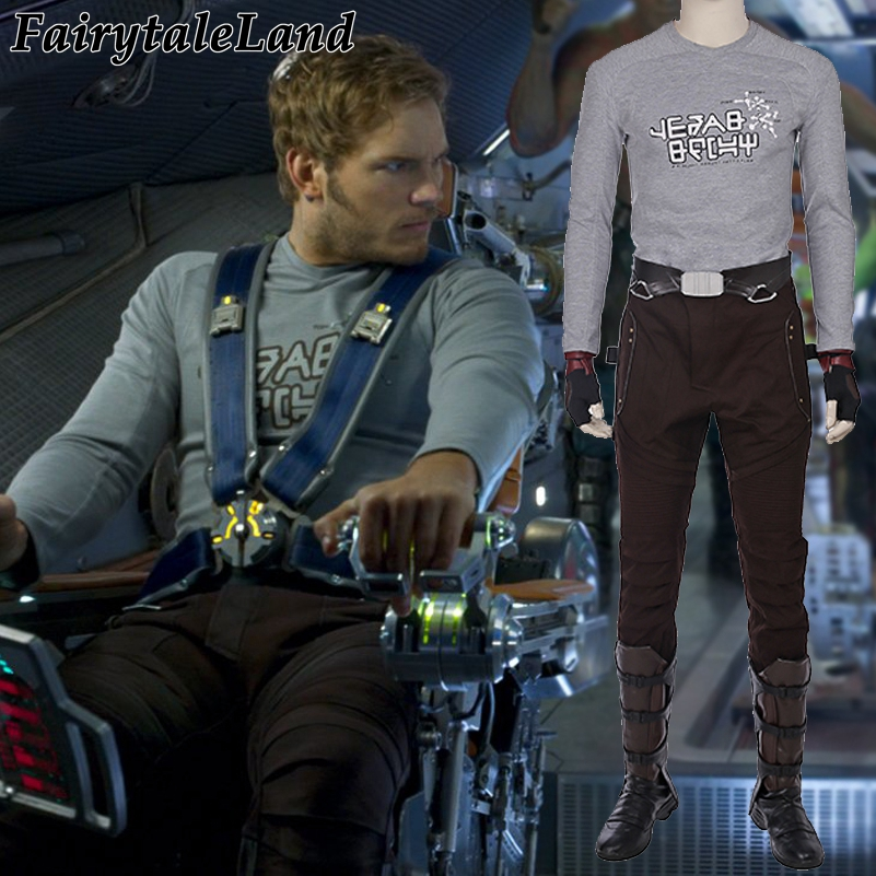Guardians of the Galaxy 2 Star Lord costume Superhero Peter Quill Star Lord cosplay suit fancy
