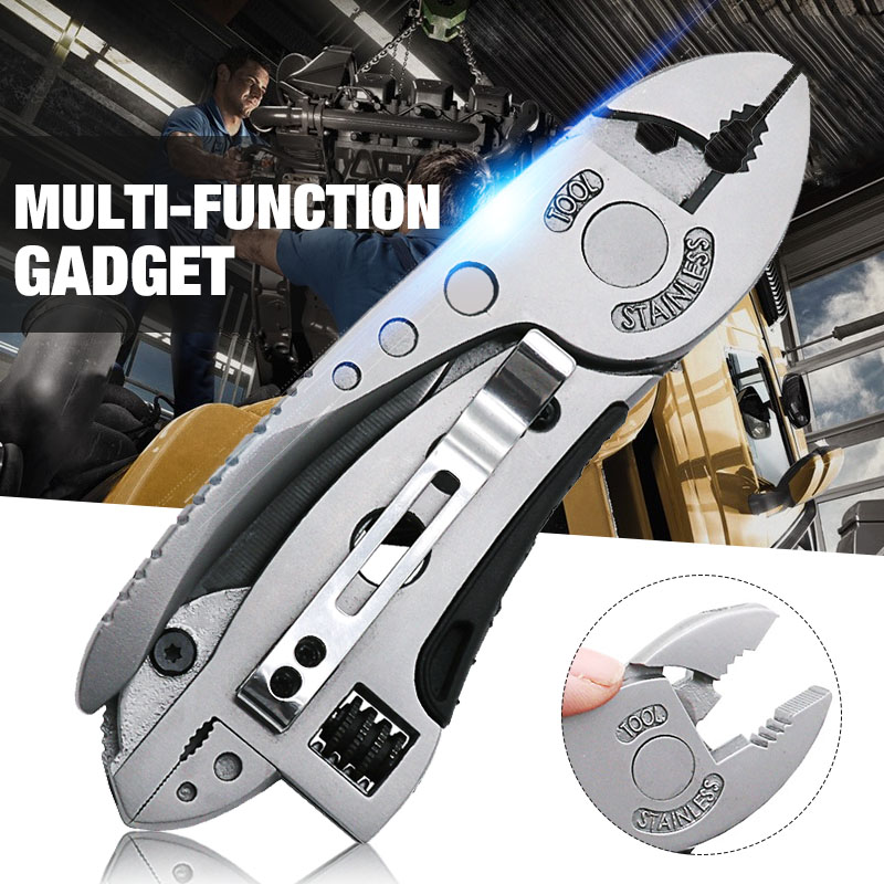 Outdoor Portable Multitool Pliers Pocket Knife  Screwdriver Set Stainless Steel Adjustable Wrench Hand Tool Set rdeer multifunction cutting pliers multitool diy outdoor stainless steel folding with knife screwdriver hand tools
