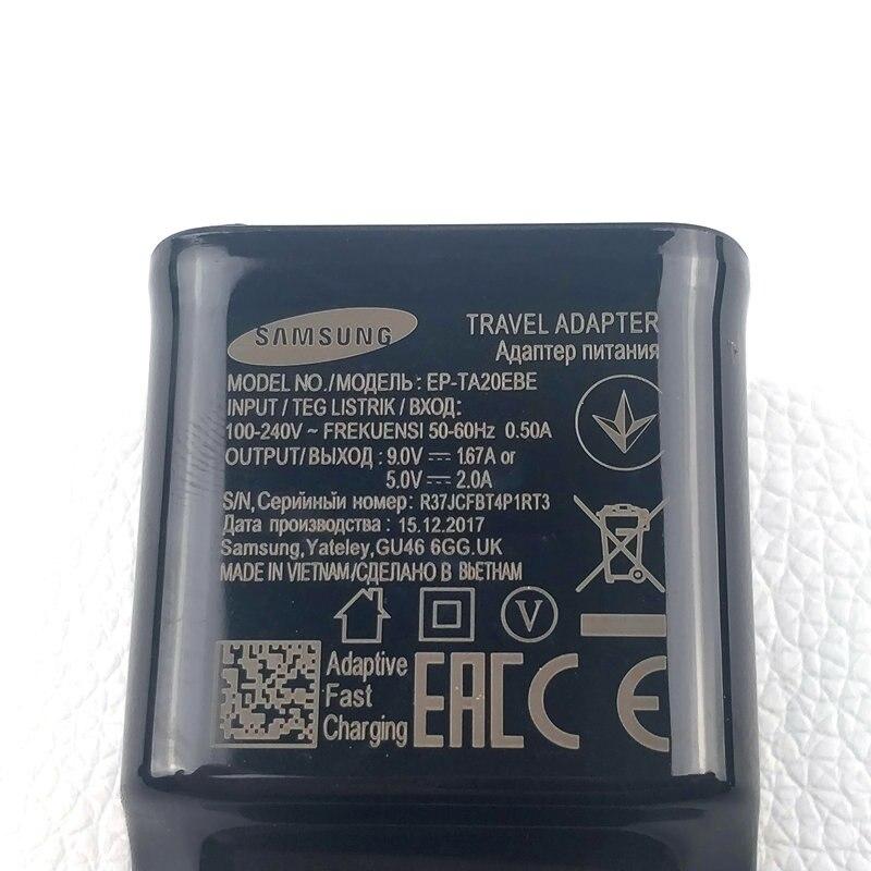 Image 5 - Оригинальное настенное зарядное устройство EU Samsung Galaxy для s9 S8 plus Note 8 9 9 v/1.67A адаптивный адаптер для быстрой зарядки и кабель Usb Type C-in Зарядные устройства from Мобильные телефоны и телекоммуникации