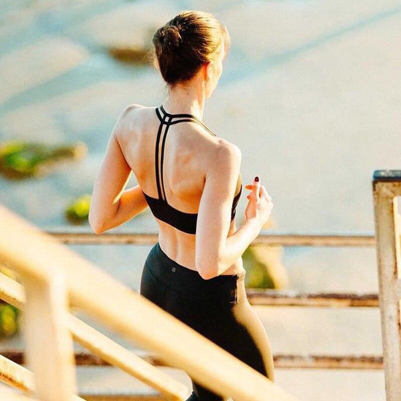 Zhangyunuo Sports Bra Top Padded Running Sports Bra Wire Free Athletic Fitness Women Workout Brassiere Sport