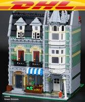 LEPIN 15008 City Street Green Grocers Model Building Blocks 10185 Creator Toys For Children Kids DIY
