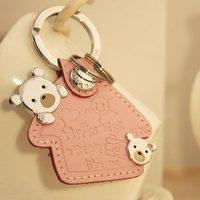 במחזיק מפתחות זוג יפה-הגעה חדשה # מחזיק מפתחות טבעת מפתח טבעת מפתח זוג Creative היפה ysk000708