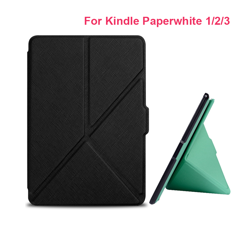 Hot Sale Smart slim leather cover with magnet closure case for Amazon kindle paperwhite 1/2/3 2nd 3rd e-book/e-reader cases slim nylon sleeve pouch case for kindle paperwhite 123 voyage 7th 8th gen pocketbook 622 623 e reader sleeve case 6