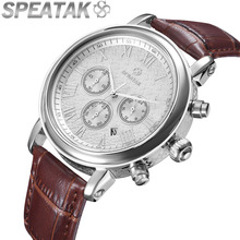 2016 estilo Casual watch reloj de los hombres relojes de marca de lujo de cuero de los hombres de moda al aire libre top diseñador del calendario reloj de cuarzo de negocios