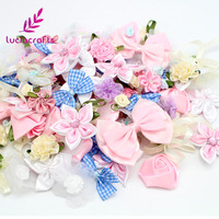 30g About 120pcs Mixed Bow Flowers Rosette Applique Craft 012006001