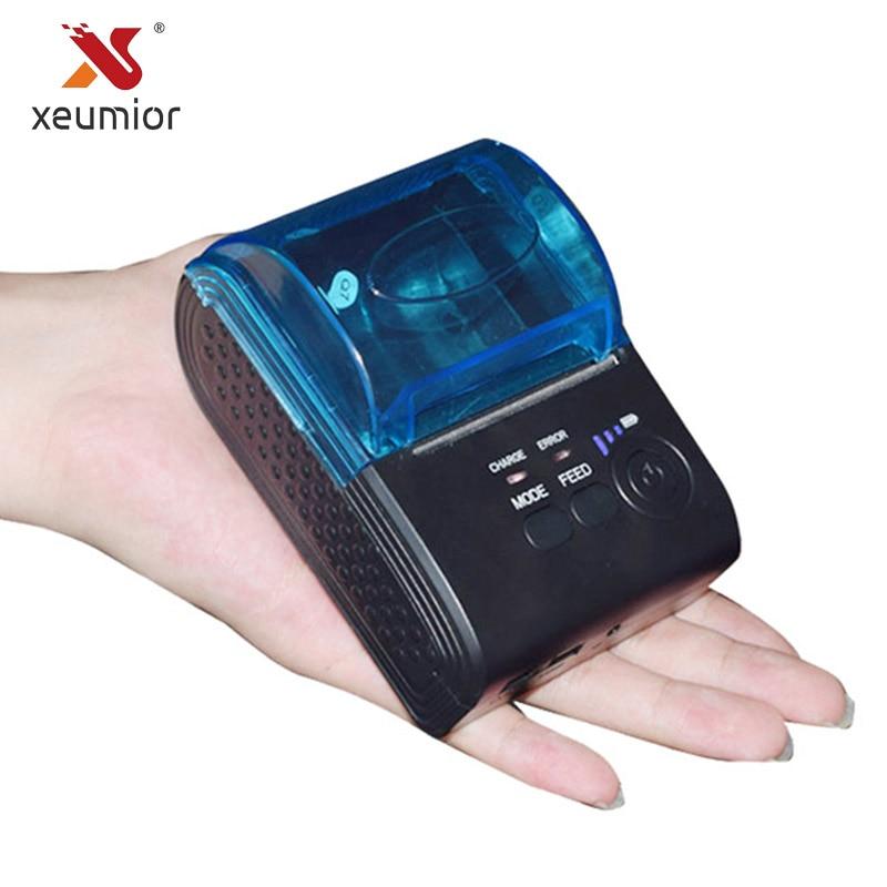 Grand rouleau papier 57mm X 50 Bluetooth imprimante Portable Android Mini imprimante sans fil 58mm Mobile Bluetooth imprimante SM-5803BT