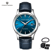 PAGANI DESIGN 2019 New Luxury Brand Men's Classic Mechanical Watches Business Waterproof Clock Genuine Leather Automatic Watch