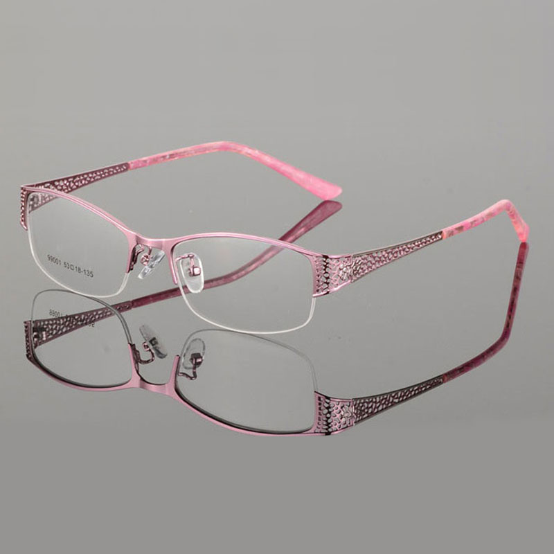 Image 3 - Reven Jate Half Rimless Eyeglasses Frame Optical Prescription Semi Rim Glasses Spectacle Frame For Women's Eyewear Female-in Women's Eyewear Frames from Apparel Accessories