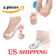 3 Pairs Hallux Valgus Toe Corrector Bunion Splint Toe Straightener Feet Care Tool Set