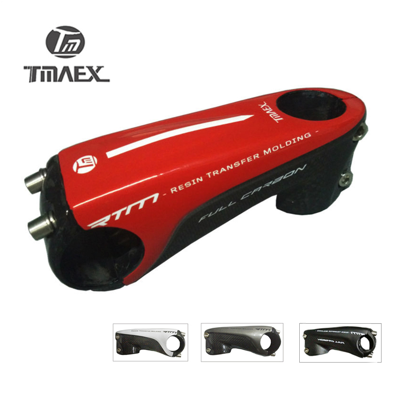 "TMAEX - Lightweight Full 3k Carbon Stem 1""1/8 Road/ Mountain Bike  Stem 80/90/100/110mm Carbon Fiber Cap Stem Bike Parts 145g"