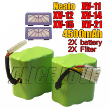 НОВЫЙ 2 * аккумулятор + 2 * Фильтр 4500 мАч 7.2 В для Neato XV-21 XV-11 XV-14 XV-15 XV-12 XV-24 pro робот робот пылесос аксессуар