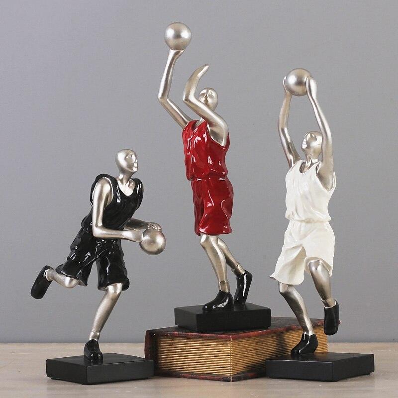 Ev ve Bahçe'ten Heykelcikler ve Minyatürler'de Yaratıcı Modern reçine basketbol spor figürleri yaratıcı heykelleri heykeller süsler oturma odası ev dekor'da  Grup 1