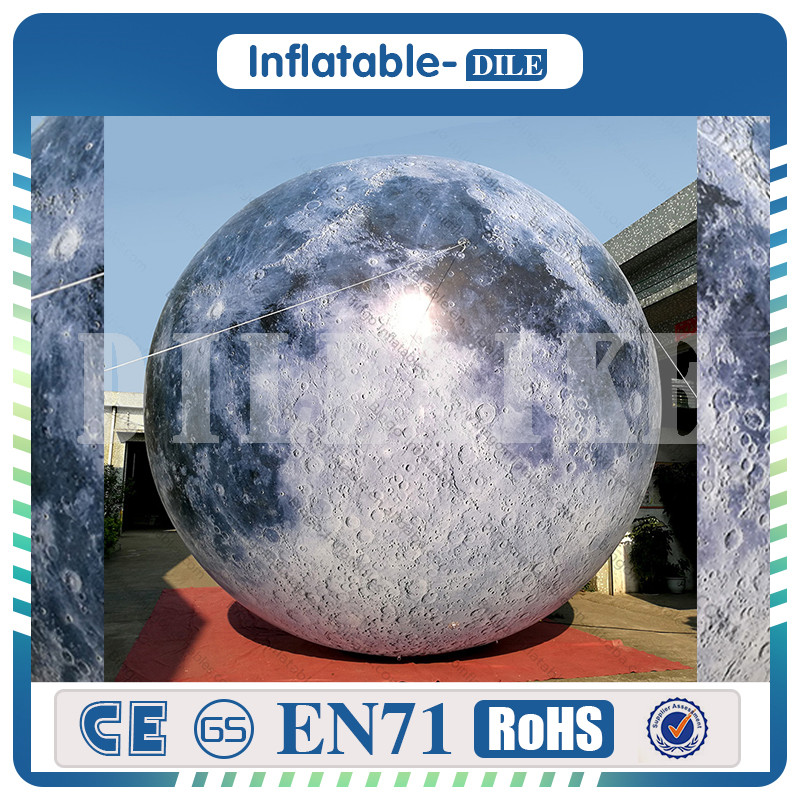 inflatable moon ball,moon balloon with LED light for Advertising, Giant Moon Globe Lighting Events/ Show