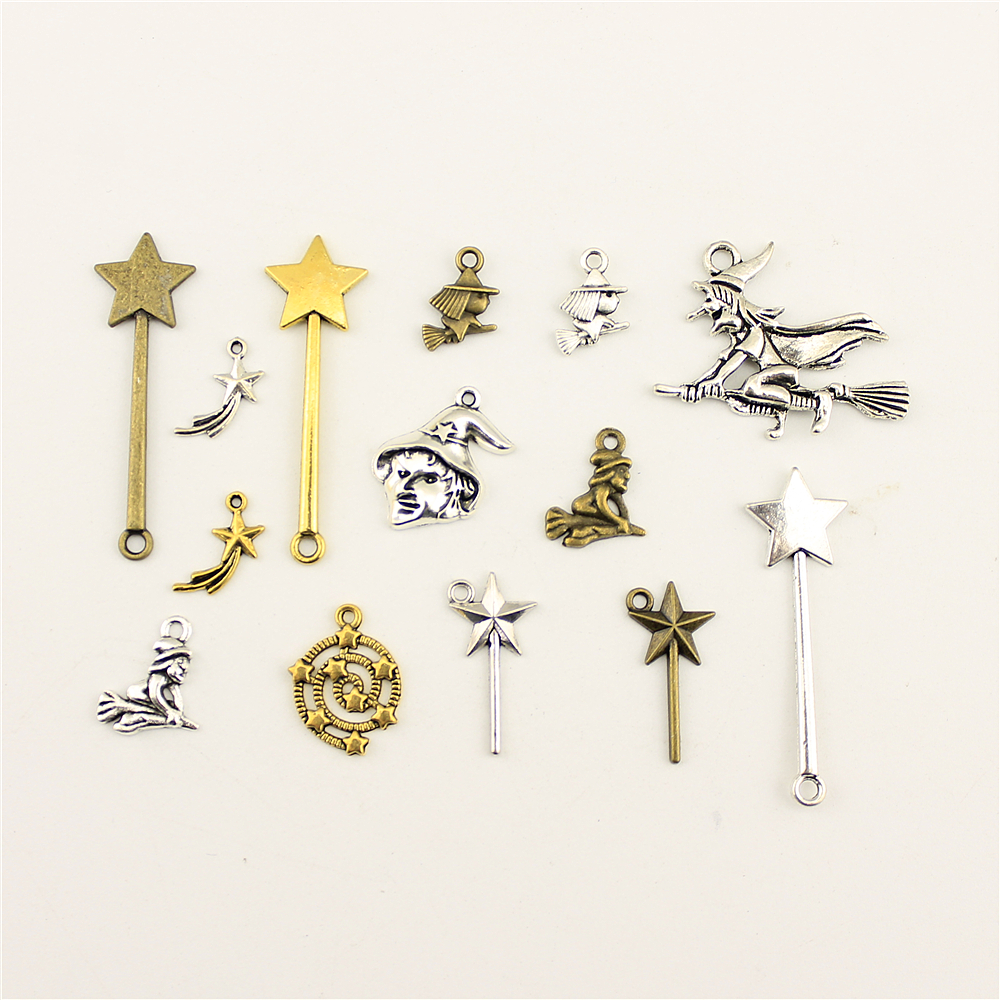 10pcs Antique Silver Alloy Mermaid Charms Pendants Jewellery Making 36x34mm