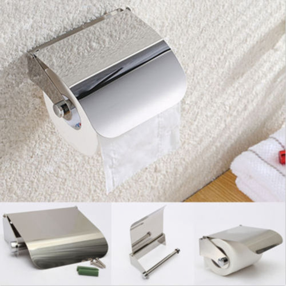 bar paper box roll holder toilet portable useful commercial bathroom stainless steel tissue home wall mounted