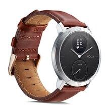 Ktab Smart Zubehör Band für Nokia stahl Echtem Leder Strap Ersatz Uhr band Armband für Withings Stahl HR 36MM40mm