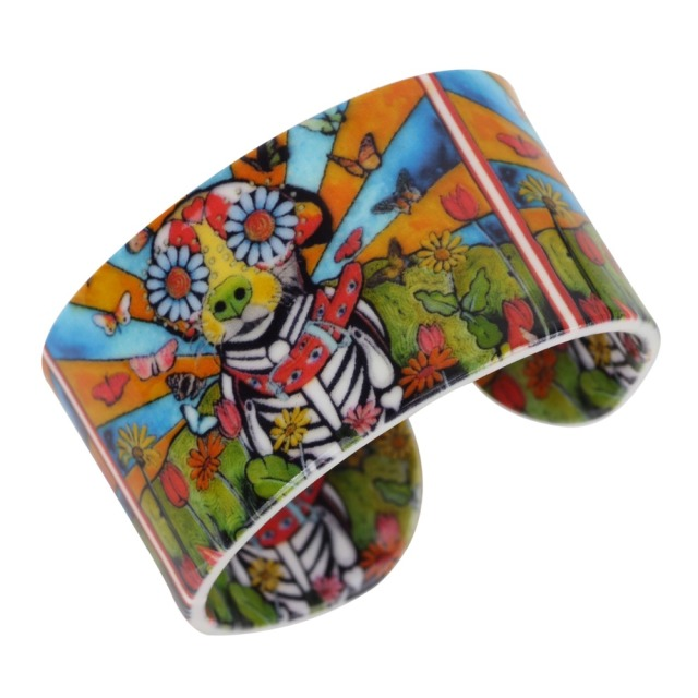 Colorful Floral Dog Printed Bracelet