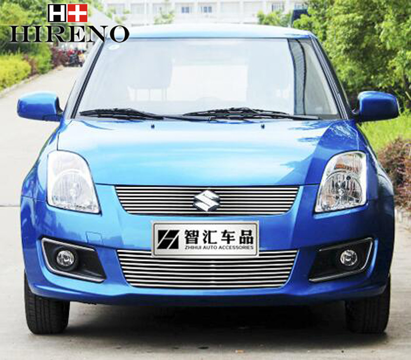 Stainless Steel Car Racing Grills For Suzuki Swift 2011 2014 Front