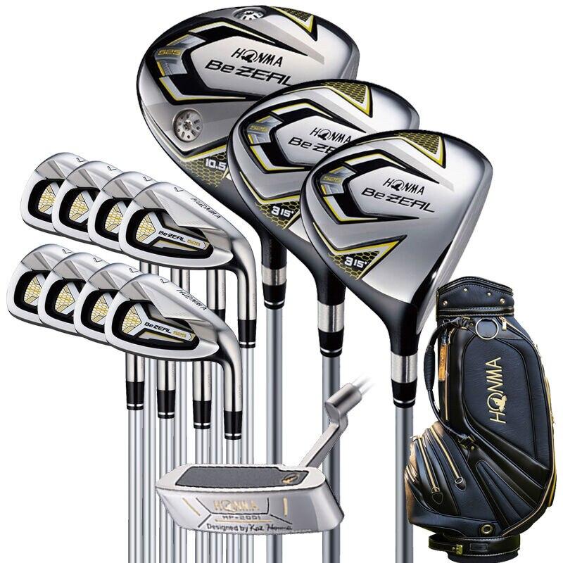 Nouveau 525 Golf Clubs HONMA BEZEAL 525 Ensemble Complet HONMA Golf pilote. bois. fers. putter De Golf Graphite arbre plus sac Livraison gratuite