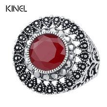 Bague verte pour femmes, bijou Vintage, noir brillant, tchèque, perçage, argent tibétain, couverture rétro, livraison gratuite, vente en gros
