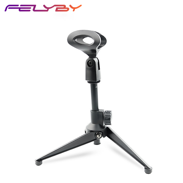 New BM800 Microphone Desktop Tripod Foldable Stent Plastic Adjustable Wired Wireless Microphone Capacitive Microphone Stand image