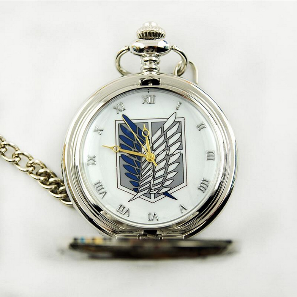 Hot Anime Attack on Titan Couting Legion Survey Corps Pocket Watch