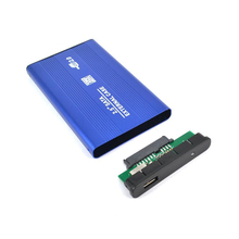 2.5 Inch USB 2.0 SATA External Mobile Hard Disk Box Aluminum Alloy Shell SSD Solid Hard Disk Storage HDD Enclosure Blue