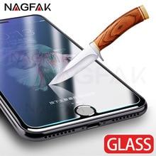 Vidrio Templado 9 H para iPhone 6 s 6 Plus 7 8 Plus cristal protector para iPhone 8 7 6 5S 5 4 protectores de pantalla