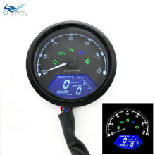 Motorcycle LED Odometer Digital Backlight Night Tachometer Gauge Panel Motorbike Speedometer
