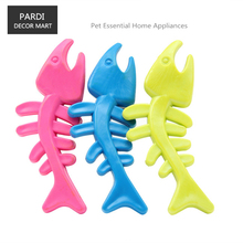 TPR eco-friendly pet toy fish bone shape rubber toy bite molar relax pet toy molar toy bite resistance 1pc/lot