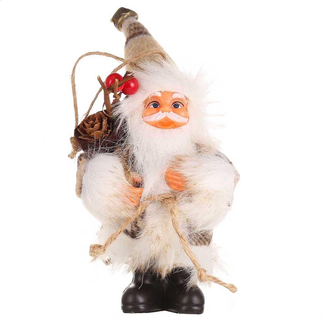 Christmas Toys Children Plush Staffed Toy Kid Tree Ornament Santa Claus Doll Toy Hang Exquisite Decorations Party Gifts For Kids
