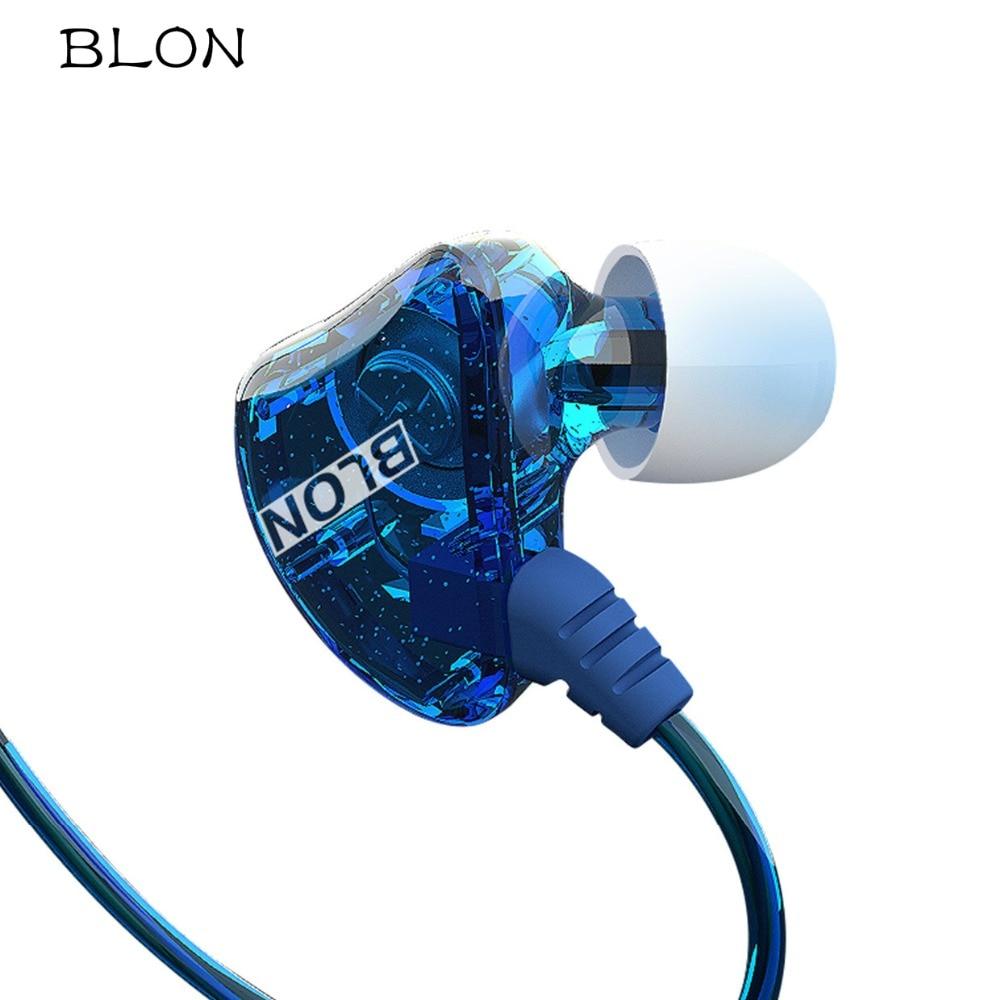 Original BLON S1 HIFI Headphones With Mic Dual Dynamic Driver Professional In Ear Sport Earphones Headset VS SE215 For Phones sport elite se 2450