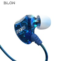 Original BLON S1 HIFI Headphones With Mic Dual Dynamic Driver Professional In Ear Sport Earphones Headset