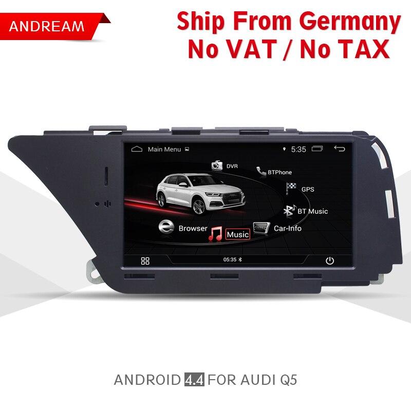 7 Android Voiture Lecteur Multimédia Pour AUDI A4 (2008-2016 B8) q5 (2010-2016) Bluetooth gps navigation Wifi Allemagne Gratuite EW980A1