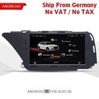 7 Android автомобильный мультимедийный плеер для AUDI A4 (2008 2016 B8) Q5 (2010 2016) Bluetooth gps навигации wi fi Германии доставка EW980A1