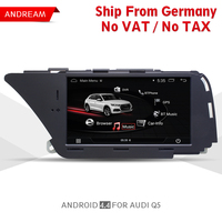 7 Android Car Multimedia Player For AUDI A4 (2008 2016 B8) Q5(2010 2016) Bluetooth gps navigation Wifi Germany Shipping EW980A1