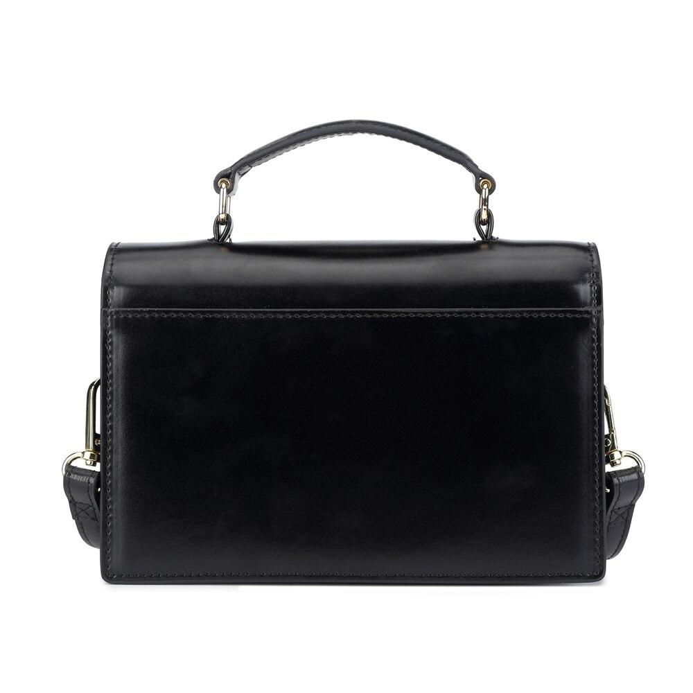 Image 3 - BISONJS Leather Women Handbag Luxury Handbags Women Bags Designer  Vintage Satchels Female Shoulder Bag bolsa feminina B1398Shoulder  Bags