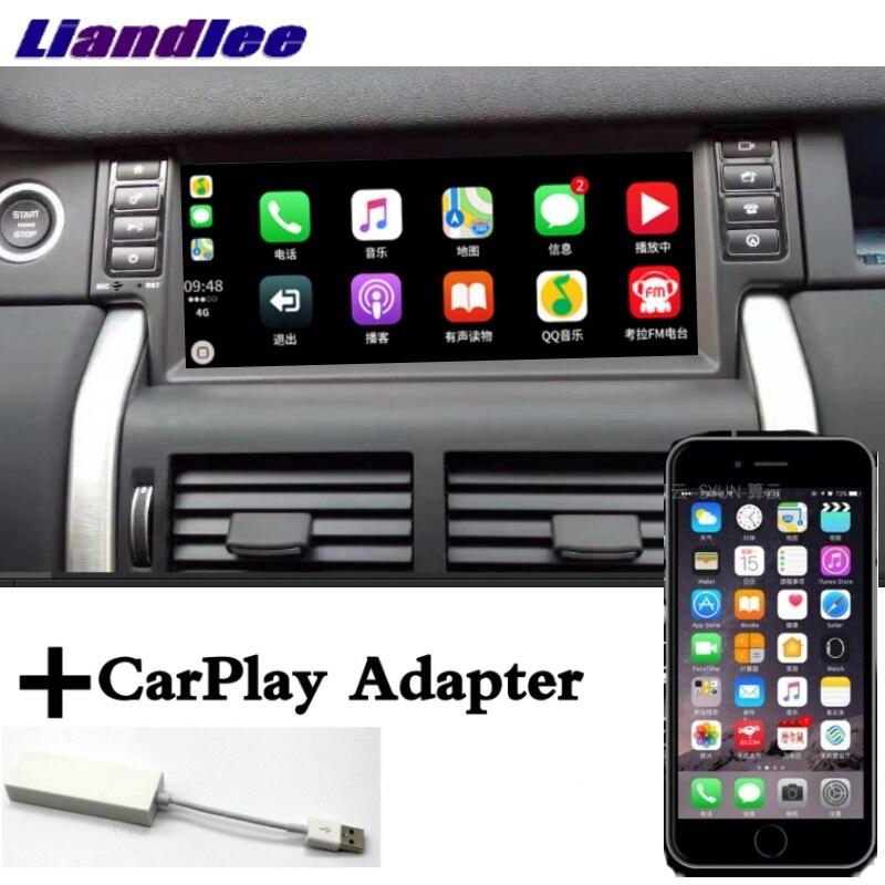 Lecteur multimédia de voiture Liandlee adaptateur NAVI CarPlay pour Land Rover Discovery Sport L550 2014 ~ 2019 écran Radio Navigation GPS