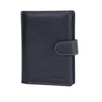 Men Wallet Genuine Leather Design Large Capacity Men Purses Wallets With Passport Pocket Coin Pocket Multiple